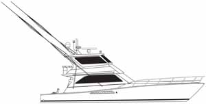 A Viking 58 with outriggers enclosed bridge linedrawing gift idea personalized sunshirts your boat photograph performance apparel custom picture giftideas dye sublimation linedrawings boater boat lineart specifications boatiquegraphics fishing center console yachts cruisers sportfishing walkaround sailboat sailing yacht designmyshirt boatique graphics designmyshirt design tshirts shirts clipart clip art boat gift sketch vectors beach team wear cancer skin upf sunmoisture wicking longsleeve lightweight coolingtech tournament raceteam crew sunshirt